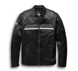 Harley-Davidson® Llano Perforated Leather Jacket with Coolcore Technology 97038-19VM