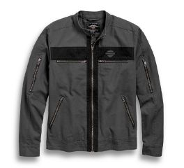 Harley-Davidson® Exposed Zipper Canvas Jacket 97519-19VM