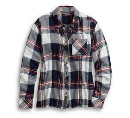 Harley-Davidson® Raw Hem Plaid Shirt 96059-20VW