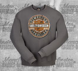 Harley-Davidson® Men's Charcoal Long Round Sweater, RK Stratman Inc. R003095