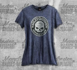 Harley-Davidson® Women's Blue Willie Shine Short Sleeve Tee, RK Stratman Inc. R003060