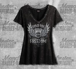Harley-Davidson® Women's Black Your Freedom Short Sleeve Tee, RK Stratman Inc. R003064