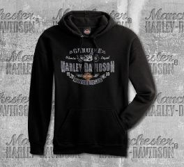 Harley-Davidson® Men's Black Genuine H-D® Motorcycles Sweatshirt, RK Stratman Inc. R003097