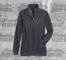 Harley-Davidson® Women's Charcoal Stitched Up Sweatshirt, RK Stratman Inc. R003066
