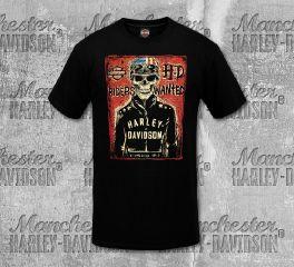 Harley-Davidson® Men's Black Riders Wanted Short Sleeve Tee, RK Stratman Inc. R003320