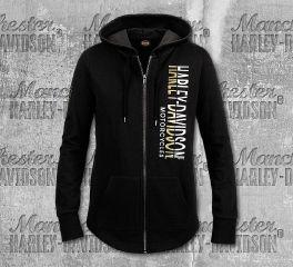 Harley-Davidson® Women's Black Jointed Sweater, RK Stratman Inc. R003374
