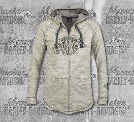 Harley-Davidson® Women's Oatmeal Relic Sweater Hoodie, RK Stratman Inc. R003311