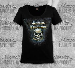Harley-Davidson® Women's Black Oxidized Short Sleeve Tee, RK Stratman Inc. R003356