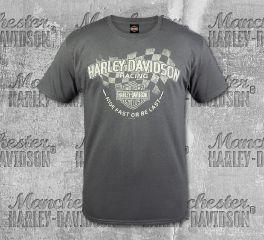 Harley-Davidson® Men's Grey Fast Last Short Sleeve Tee, RK Stratman Inc. R003346