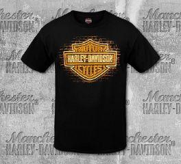 Harley-Davidson® Men's B&S® Neon Short Sleeve Tee, RK Stratman Inc. R003221