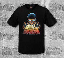 Harley-Davidson® Men's Black Lit Up Short Sleeve Tee, RK Stratman Inc. R003222