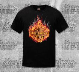 Harley-Davidson® Men's Black Hot One Short Sleeve Tee, RK Stratman Inc.