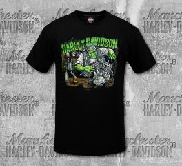 Harley-Davidson® Men's Monster Garage Short Sleeve Tee, RK Stratman Inc. R003228