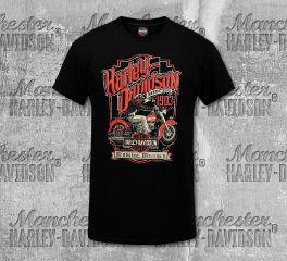 Harley-Davidson® Men's Black HydraGlide Label Short Sleeve Tee, RK Stratman Inc. R003238