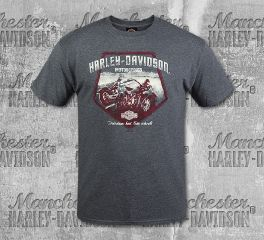Harley-Davidson® Men's Charcoal Road Short Sleeve Tee, RK Stratman Inc. R003240