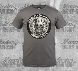 Harley-Davidson® Men's Charcoal King Skull Short Sleeve Tee, RK Stratman Inc. R003253
