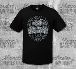 Harley-Davidson® Men's Black Tough Label Short Sleeve Tee, RK Stratman Inc. R003264