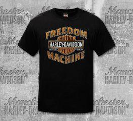 Harley-Davidson® Men's Black Old Tones Short Sleeve Tee, RK Stratman Inc. R003314