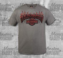 Harley-Davidson® Men's Smoke Grey Short Sleeve Tee, RK Stratman Inc. R003325