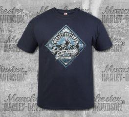 Harley-Davidson® Men's Navy MC Sign Short Sleeve Tee, RK Stratman Inc. R003326