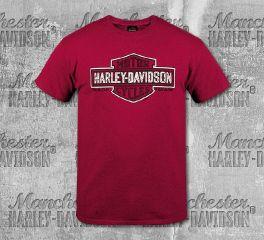 Harley-Davidson® Men's Red Shield Slash Short Sleeve Tee, RK Stratman Inc. R003332