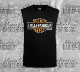 Harley-Davidson® Men's Black Antique Shield Tank, RK Stratman Inc. R003272