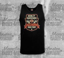 Harley-Davidson® Men's Black Badge Banner Tank, RK Stratman Inc. R003273