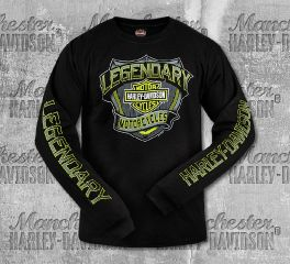 Harley-Davidson® Men's Black Interstate Legend Long Sleeve Tee, RK Stratman Inc. R003275