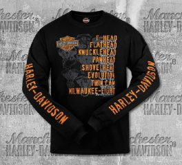 Harley-Davidson® Men's Black Roll Call Long Sleeve Tee, RK Stratman Inc. R003276