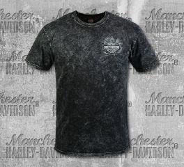 Harley-Davidson® Men's Black Busted Short Sleeve Tee, RK Stratman Inc. R003284
