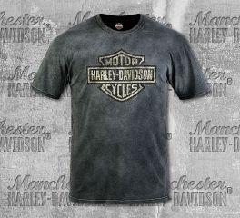 Harley-Davidson® Men's Black/Grey Fragment Short Sleeve Tee, RK Stratman Inc. R003355