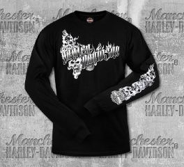 Harley-Davidson® Men's Black Ghost H-D® Long Sleeve Tee, RK Stratman Inc. R003270