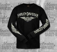 Black 3050911 HARLEY-DAVIDSON Baby Boys Interlock B/&S Footed Coveralls
