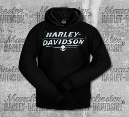 Harley-Davidson® Men's Black Cracked H-D® Pullover, RK Stratman Inc. R003282