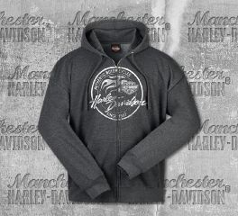 Harley-Davidson® Men's Grey Paint Logo Sweater, RK Stratman Inc.