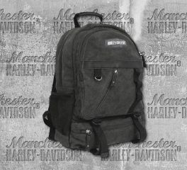 Harley-Davidson® Cotton Canvas Utility Backpack, Leather Accessory Source CC8607S