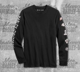 Harley-Davidson® Men's Black Rad To The Bone Long Sleeve Tee 96133-20VM