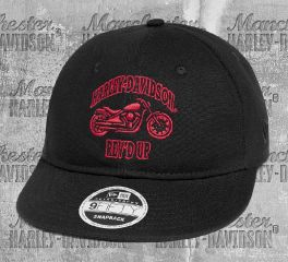 Harley-Davidson® Men's Black Adjustable Baseball Cap 97606-20VM