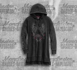 Harley-Davidson® Women's Black Wings Long Sleeve Hoodie 96211-20VW
