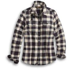 Harley-Davidson® Studded Logo Buffalo Check Shirt 96064-20VW