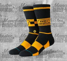 Harley-Davidson® Race Badge Socks, Stance U556C19HAR