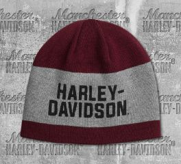 Harley-Davidson® Men's Reversible Wide Stripe Knit Hat 97615-20VM