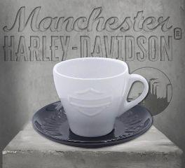 Harley-Davidson® Silhouette Bar & Shield® Ceramic Cup & Saucer HDX-98619