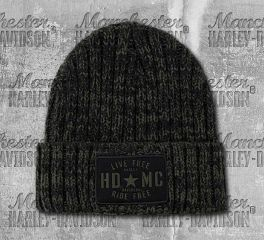 Harley-Davidson® Military Star Ribbed Knit Pattern Cap, Global Products, Inc. KN34394