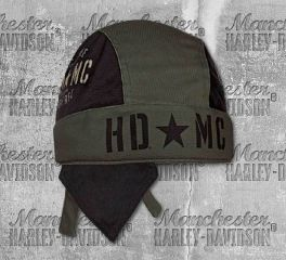 Harley-Davidson® Men's Military Star Colorblocked Mesh Headwrap, Global Products, Inc. HW34394