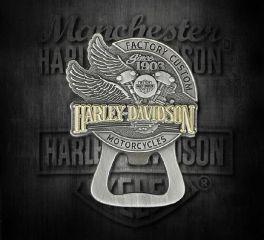 Harley-Davidson® Factory Custom Bottle Opener Magnet, Global Products, Inc. DM14223