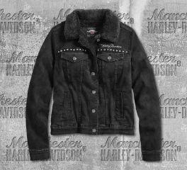 Harley-Davidson® Sherpa Fleece Lined Denim Jacket 97410-20VW