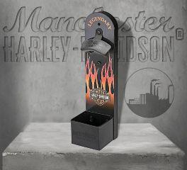 Harley-Davidson® Flames Wall Mount Bottle Opener HDL-18584