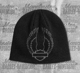 Harley-Davidson® Winged B&S® Logo Knitted Beanie Cap 97613-20VM