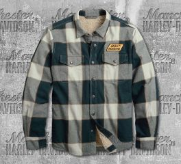Harley-Davidson® Men's Sherpa Lined Slim Fit Shirt Jacket 96008-20VM
